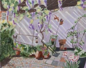 Patio at home 40x50 cm acryl canvas