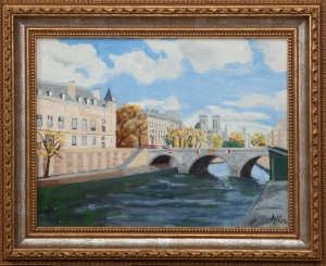 November in Paris framed